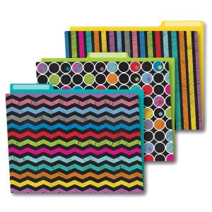 Colorful Chalkboard File Folders