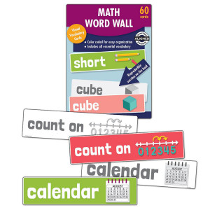 Math Word Wall Learning Cards-Kindergarten