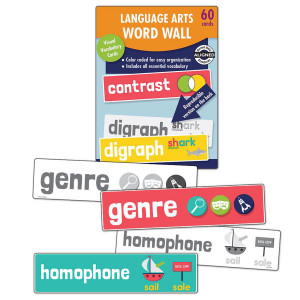 Language Arts Word Wall Learning Cards-Grade 2
