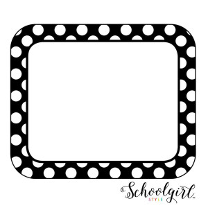 Simply Stylish Black & White Dot Nametags