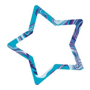 Galaxy Marble Swirl Star Notepad