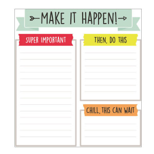 Aim High Make It Happen Notepad