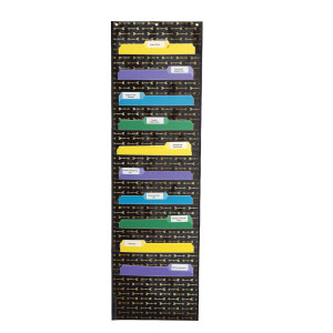 Storage Pocket Chart-Gold Arrows