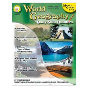 Daily Skill Builders: World Geography Book