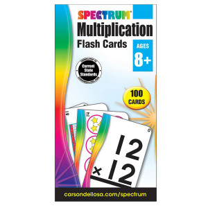Multiplication Spectrum Flash Cards
