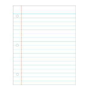 Notebook Paper Write-On/Wipe-Away Chart