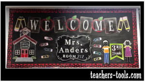 *Chalk It Up Welcome Bulletin Board