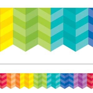 Painted Palette Multi-Color Herringbone Border