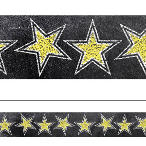 Chalk It Up! Gold Stars in Chalk Border