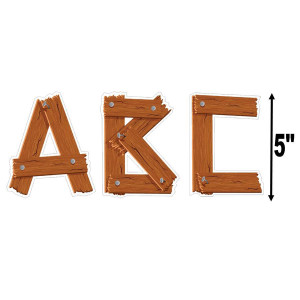 "Timber 5"" Uppercase Letters"