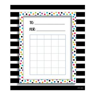 Bold & Bright Spots & Stripes Incentive Charts