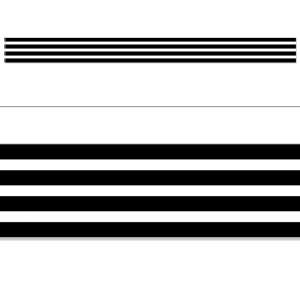 Black & White Stripes Border