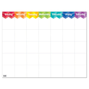 Painted Palette Large Calendar Poster