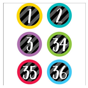 Bold & Bright Student Number Stickers
