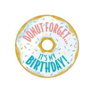 Mid-Century Mod Donut Birthday Badge