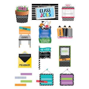 Bold & Bright Class Jobs Mini Bulletin Board