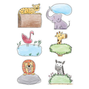 "Safari Friends Animal 6"" Cut-Outs"