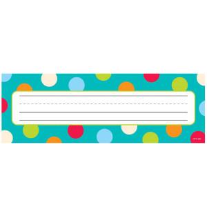 Dots on Turquoise Nameplates