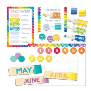 Painted Palette Calendar Bulletin Board