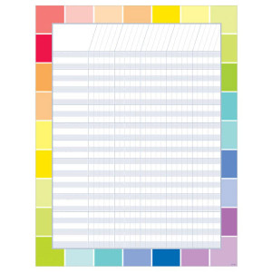 Painted Palette Rainbow Paint Chip Poster