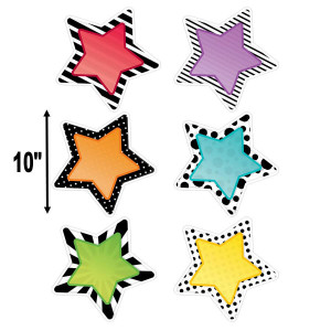"Bold & Bright Stars 10"" Cut-Outs"