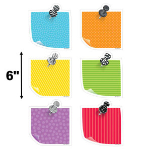 """Bold & Bright Sticky Notes 6"""" Cut-Outs"""