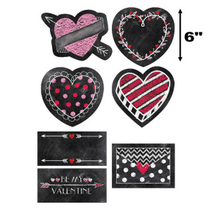 "Chalk It Up! Chalk Hearts 6"" Cut-Outs"