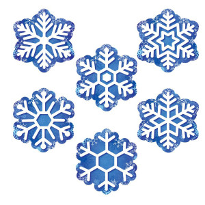 """Snowflakes 2-Sided 6"""" Cut-Outs"""