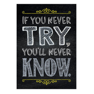 If You Never Try... Inspire U Poster