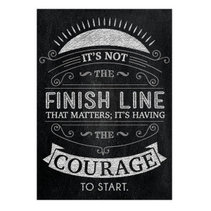 It's Not the Finish Line Inspire U Poster