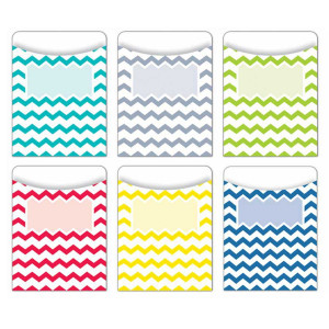 Chevron Solids Library Pockets