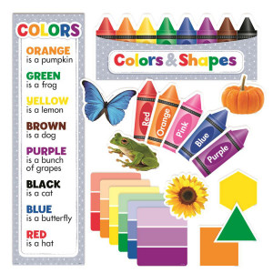 Colors & Shapes Mini Bulletin Board