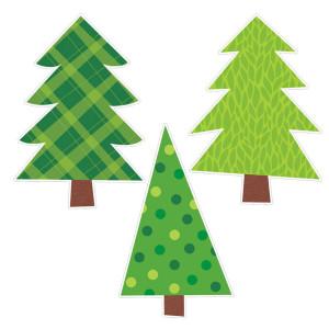 Patterned Pine Trees Bulletin Board