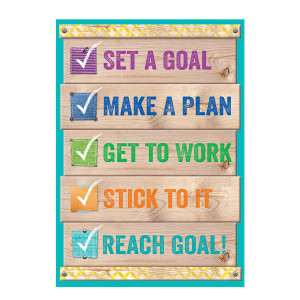 Upcycle Style Set a Goal... Inspire U Poster