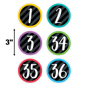 "Bold & Bright Student Numbers 3"" Cut-Outs"
