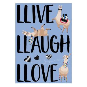 Llama- Llive Llaugh Llove Inspire U Poster