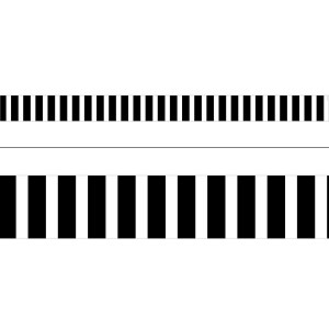 Black Bold Stripes Border