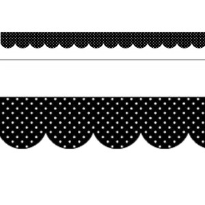 Black & White Swiss Dots Border