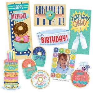 Mid-Century Mod Happy Birthday Mini Bulletin Bd
