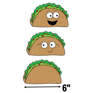 """So Much Pun! Let's Taco 'Bout... 6"""" Cut-Outs"""
