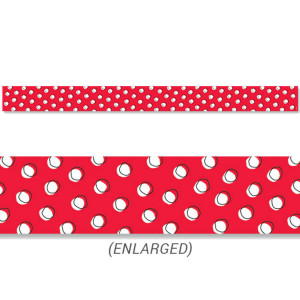 Doodle Dots on Red Border