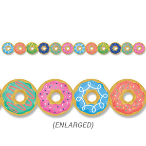 Mid-Century Mod Donuts Border