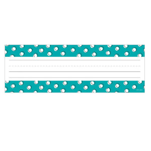 Doodle Dots on Teal Nameplates