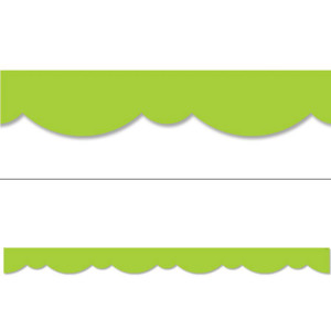 Lime Green Stylish Scallops Border