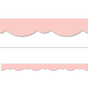 Blush Pink Stylish Scallops Border