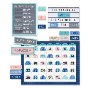 Calm & Cool Calendar Bulletin Board