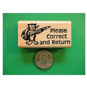 Please Correct & Return Cat Stamp