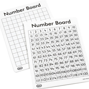 Write On/Wipe Off 120 Number Mats-Set of 10
