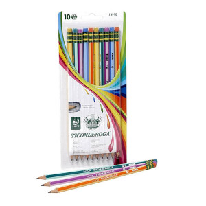 Ticonderoga Stripe Pencils 10 ct.
