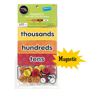 Magnetic Place Value Disks & Headings Grades 1-3